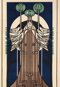 Greeting card for Charles Rennie Mackintosh - 135mm x 195mm
