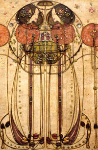 Greeting card of Charles Rennie Mackintosh - 118mm x 168mm