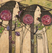 Greetings card of Charles Rennie Mackintosh - 140mm x 140mm